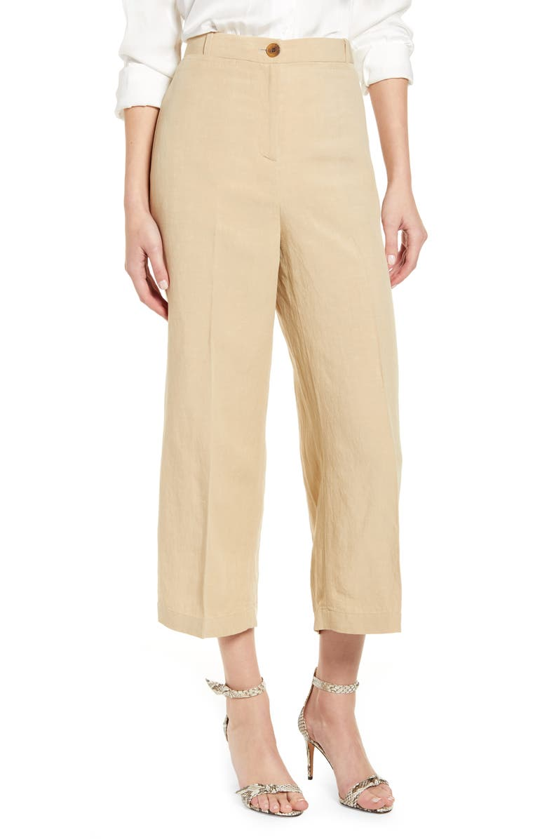 CHELSEA28 Crop Pants, Main, color, TAN SAFARI