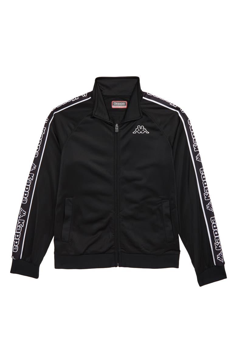 KAPPA Artem Logo Tape Track Jacket, Main, color, BLACK