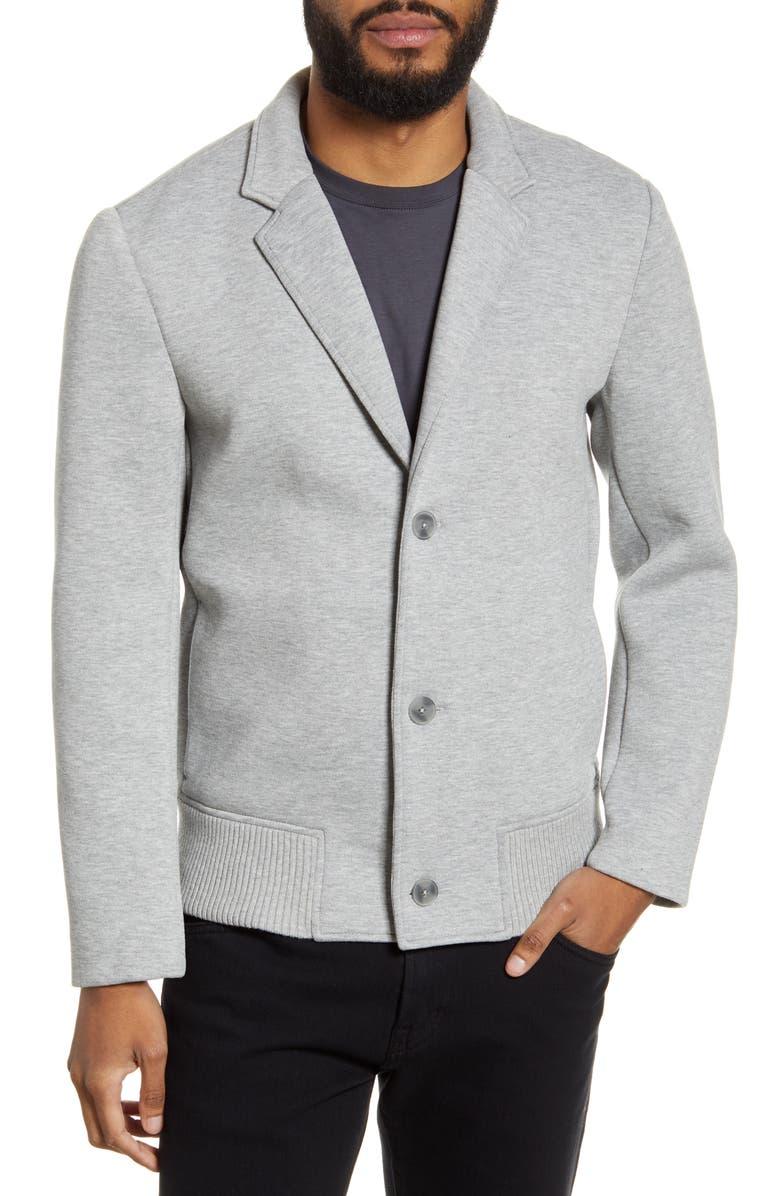 CLUB MONACO Scuba Piqué Sport Coat, Main, color, HEATHER GREY