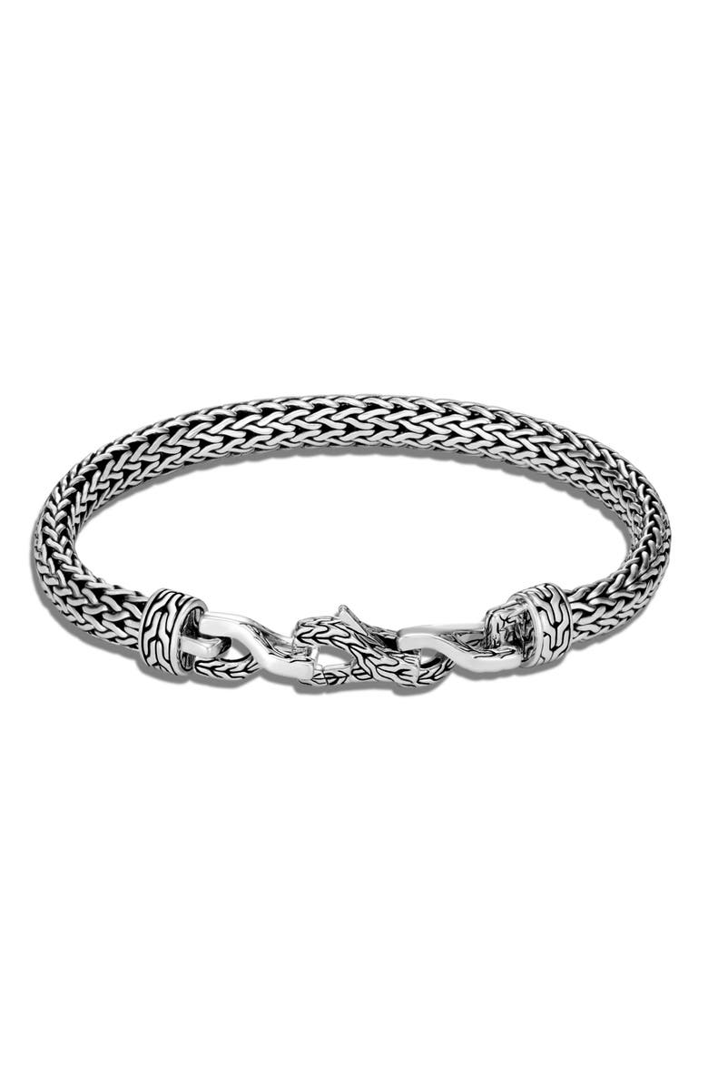 JOHN HARDY Men's Asli Classic Chain Link 6.5mm Chain Bracelet, Main, color, SILVER