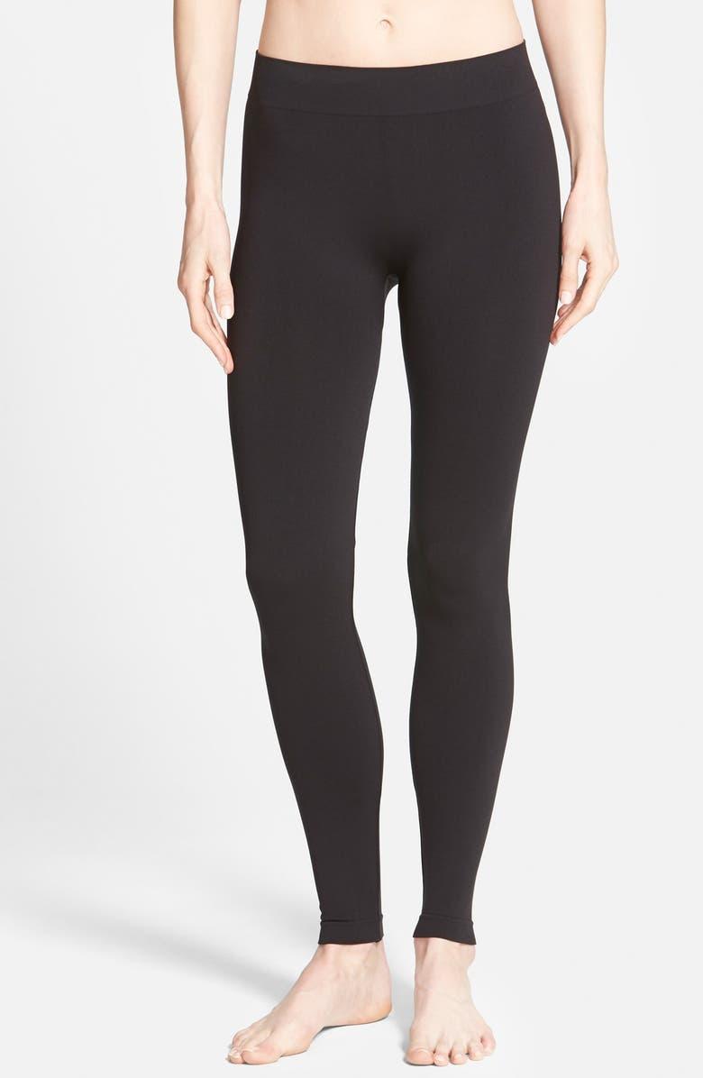 HUE Seamless Leggings, Main, color, BLACK