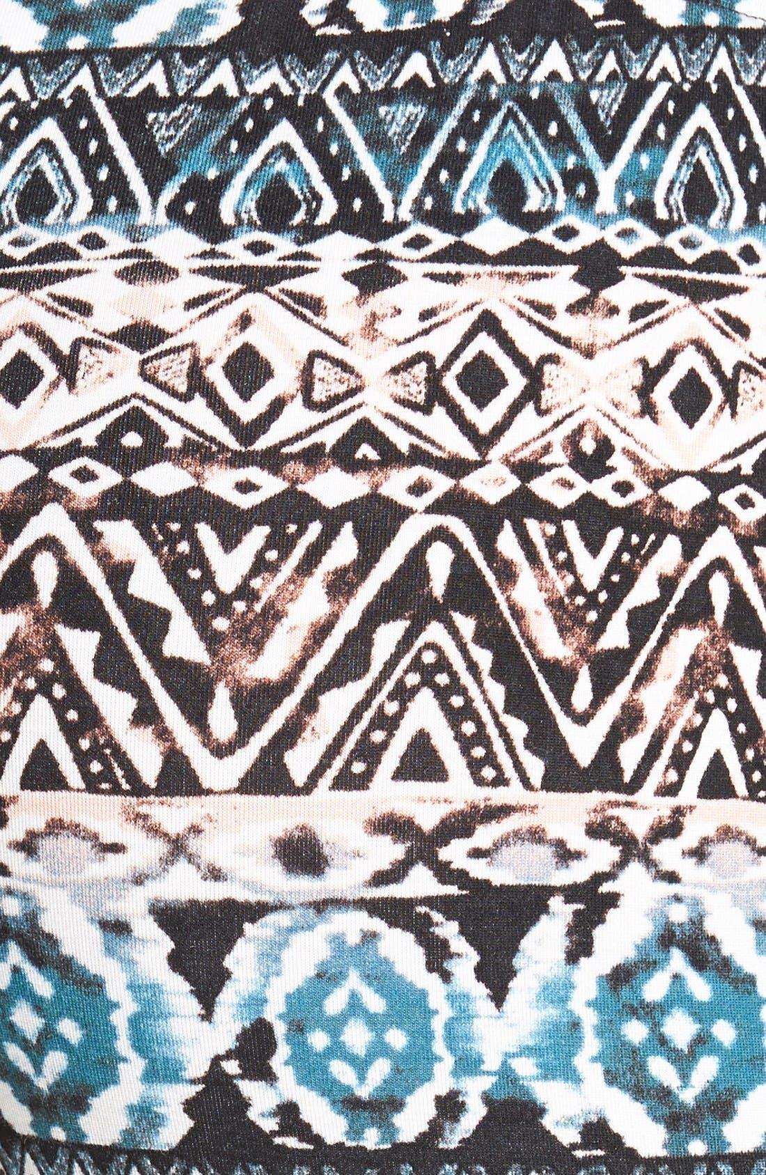 ,                             Mixed Print Flare Leg Pants,                             Alternate thumbnail 9, color,                             004