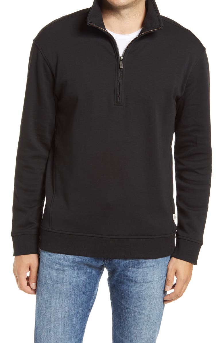 UGG<SUP>®</SUP> Zeke Half-Zip Pullover, Main, color, BLACK