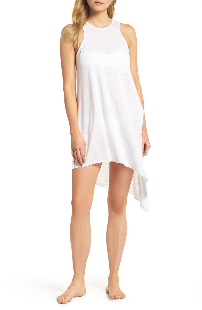BECCA Breezy Basics Cover-Up Dress, Main, color, WHITE