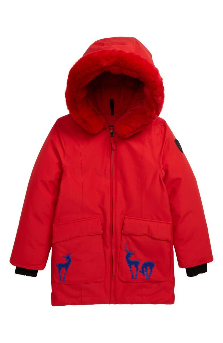 NOBIS Little Taylor Parka, Main, color, RED