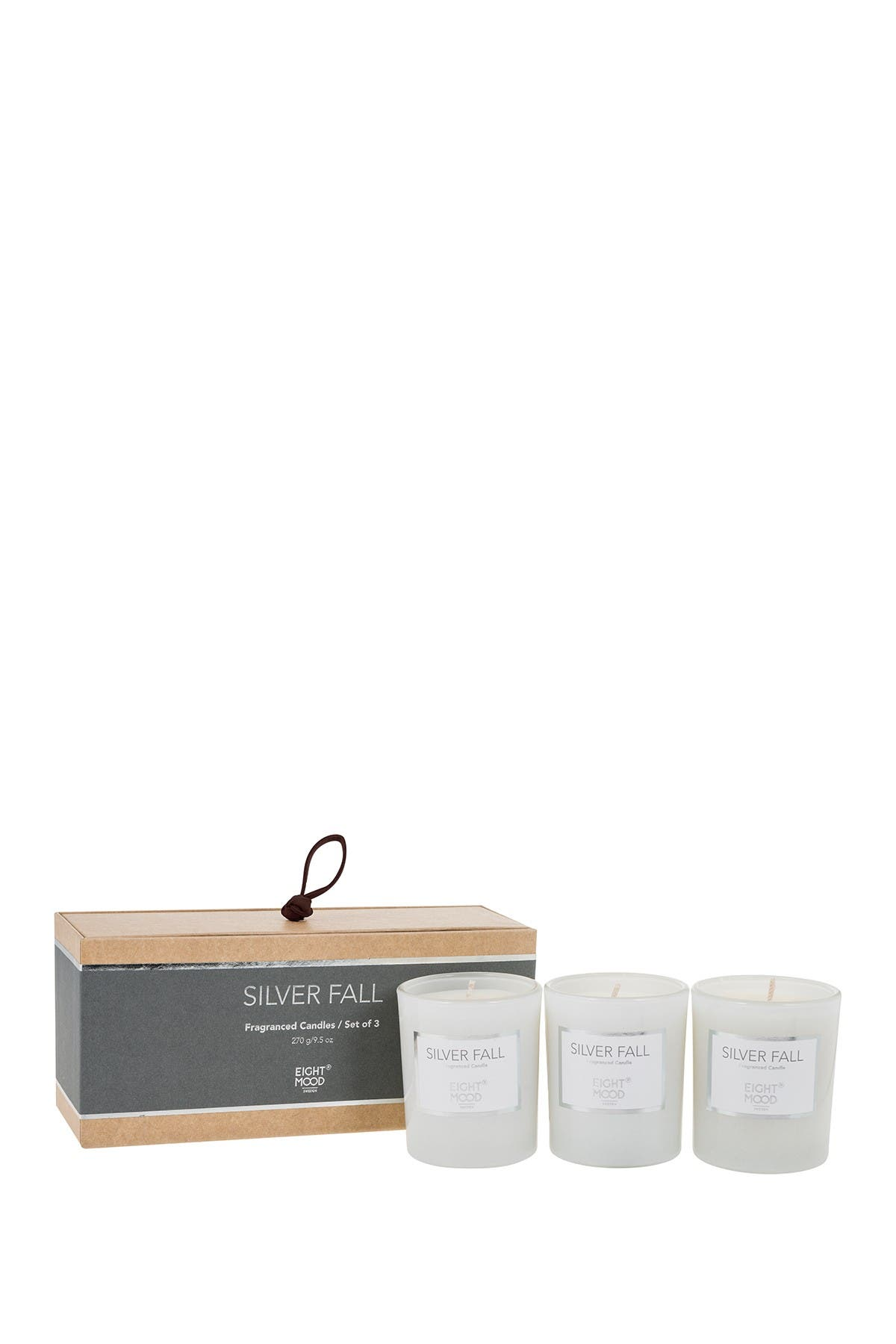 Image of EIGHTMOOD Silver Fall Pure Scented Candle - Set of 3