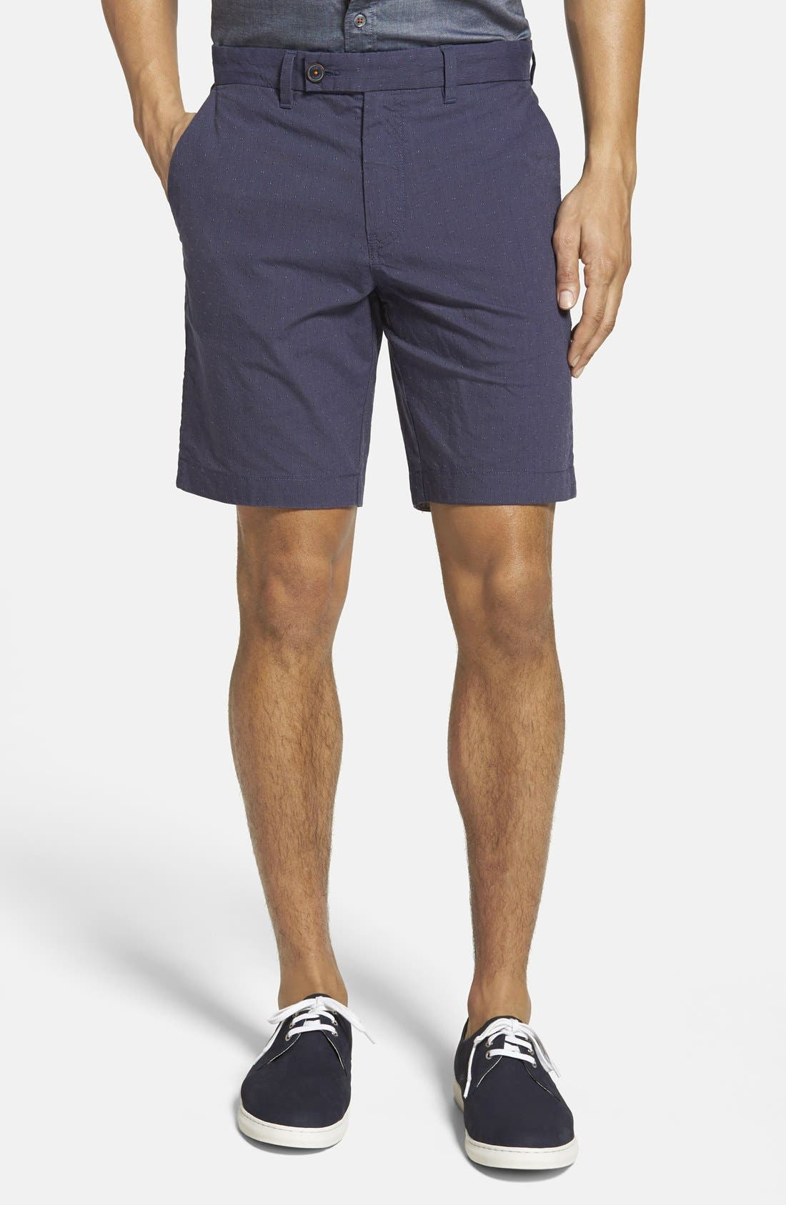 'Noroed' Slim Fit Dobby Shorts, Main, color, 410