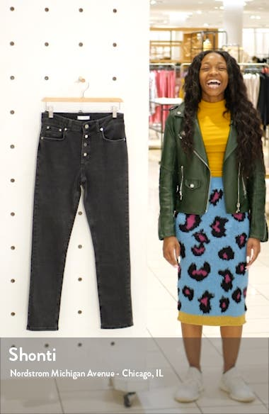 Frida Button Fly Skinny Jeans, sales video thumbnail