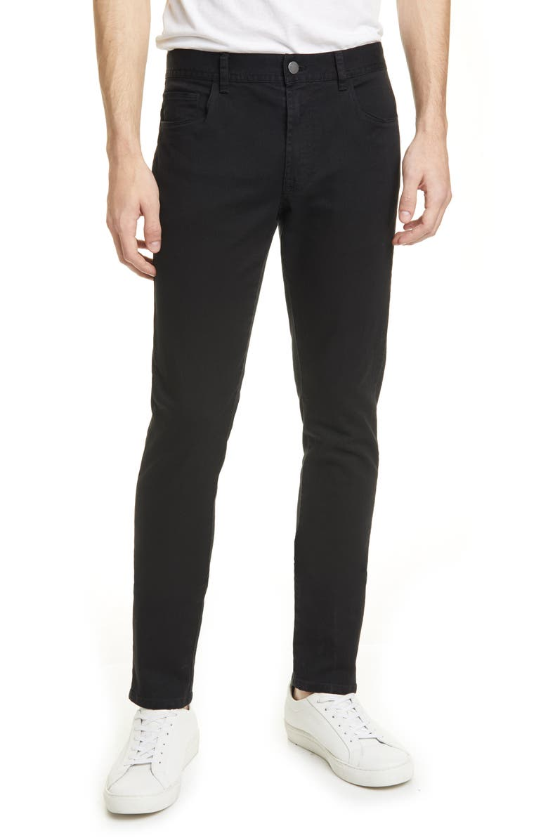 MONCLER Slim Straight Pants, Main, color, BLACK