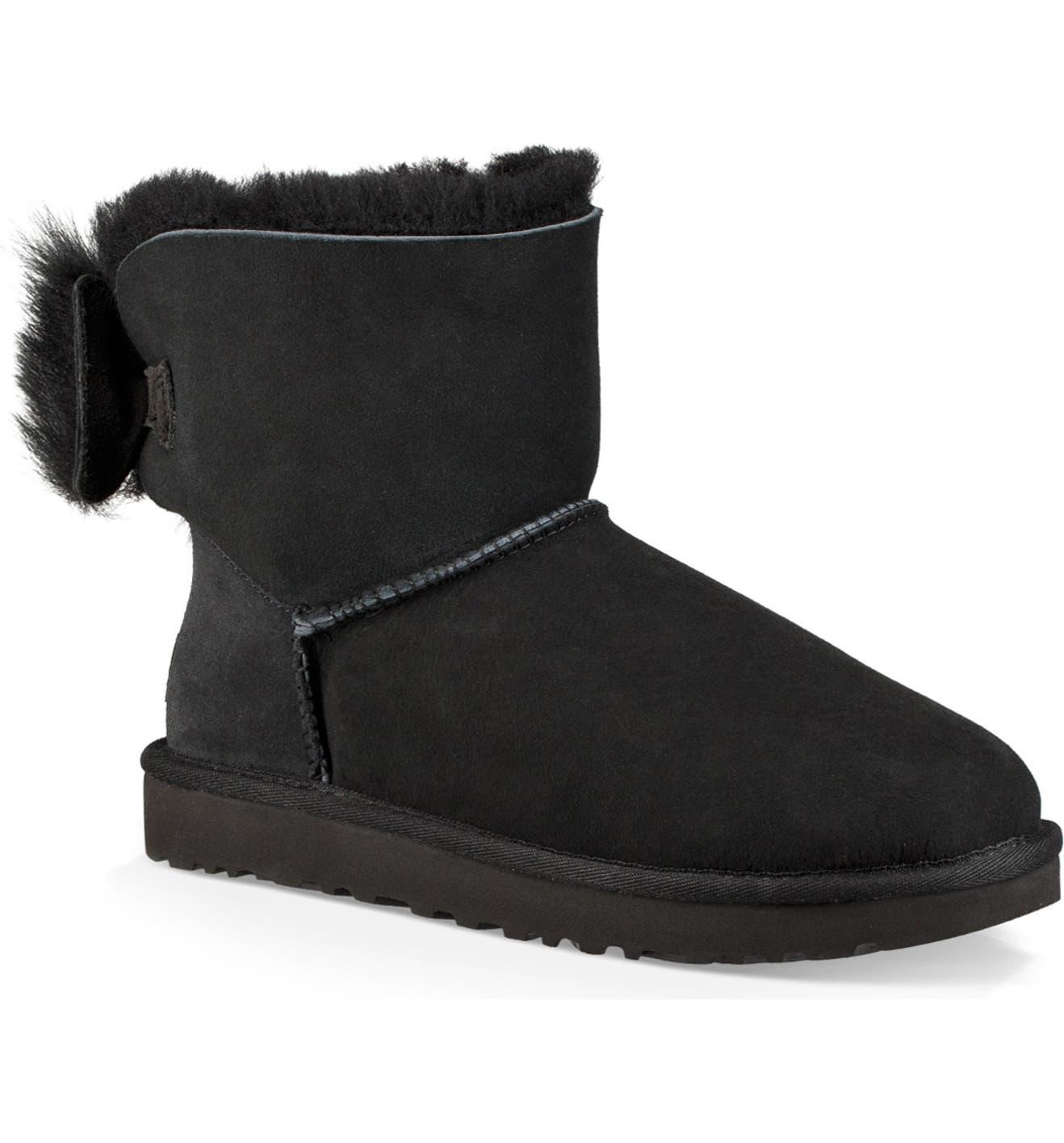 ba0aa67e9af Mini Fluff Bow Genuine Shearling Boot