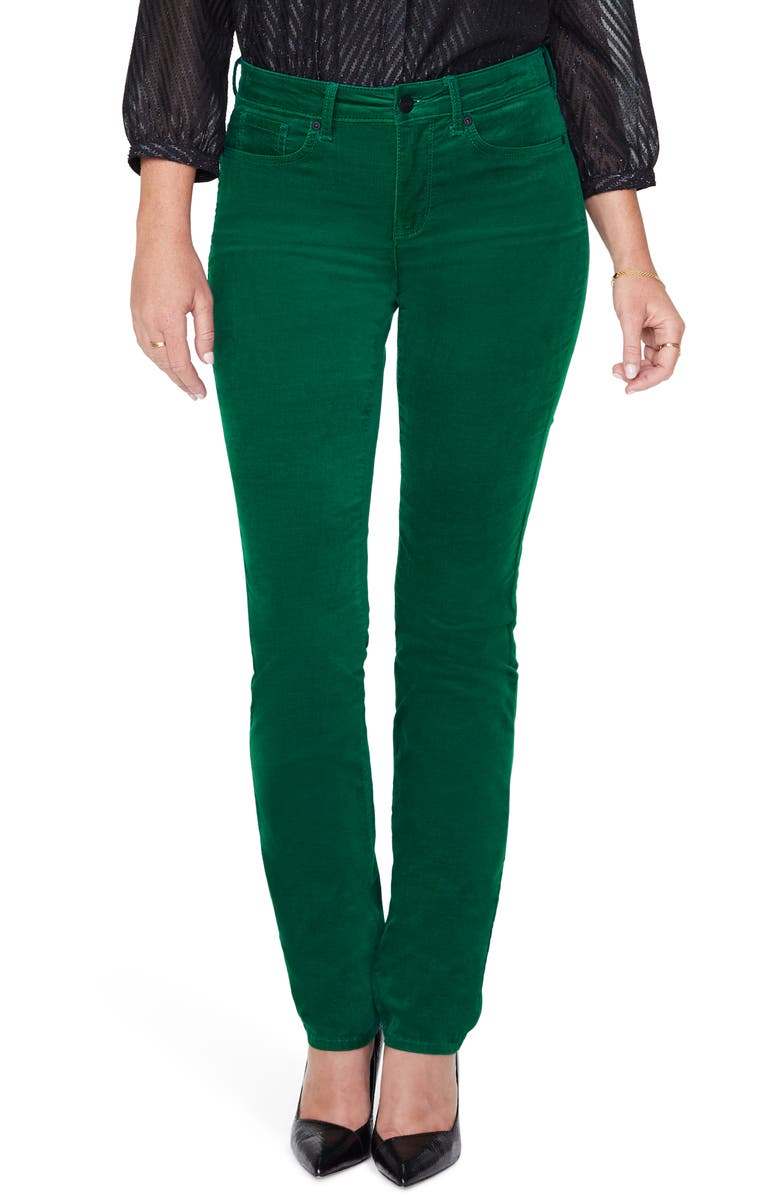 NYDJ Sheri Slim Fit Sateen Jeans, Main, color, MOUNTAIN PINE