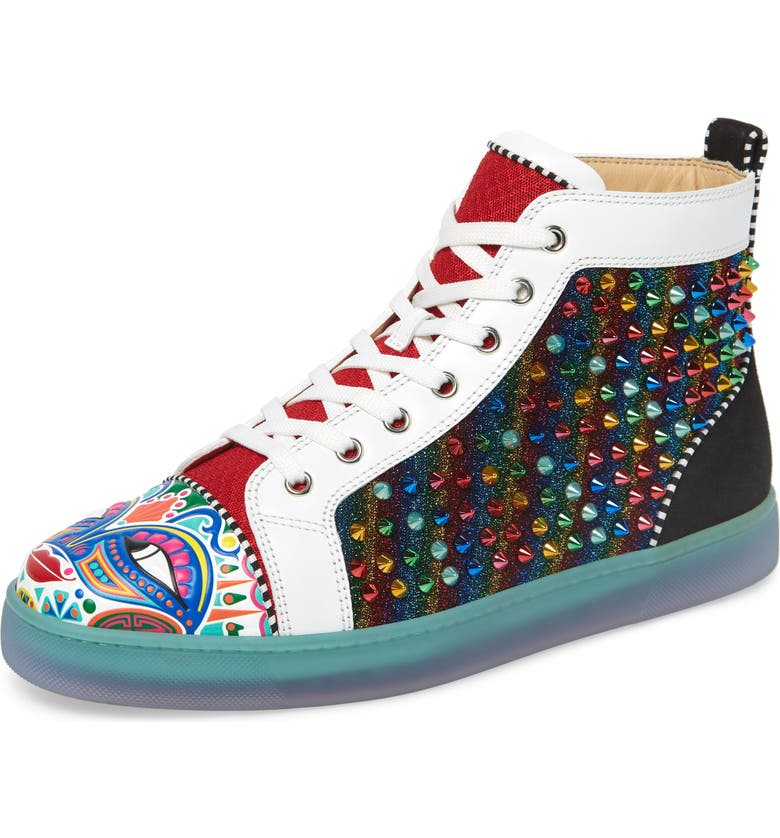 CHRISTIAN LOUBOUTIN Tribalouis High Top Sneaker, Main, color, VERSION MULTI