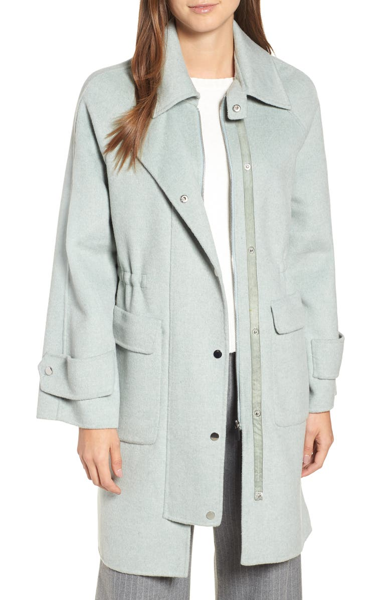 BADGLEY MISCHKA COLLECTION Badgley Mischka Double Face Wool Blend Coat, Main, color, 339