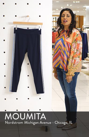 Tory Sport Retro Stripe 7/8 Leggings, sales video thumbnail