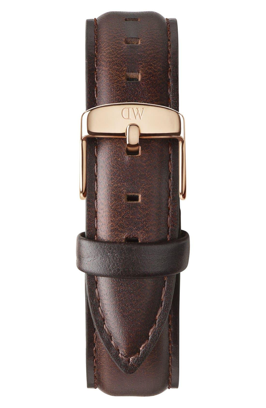 'Classic Bristol' 18mm Leather Watch Strap