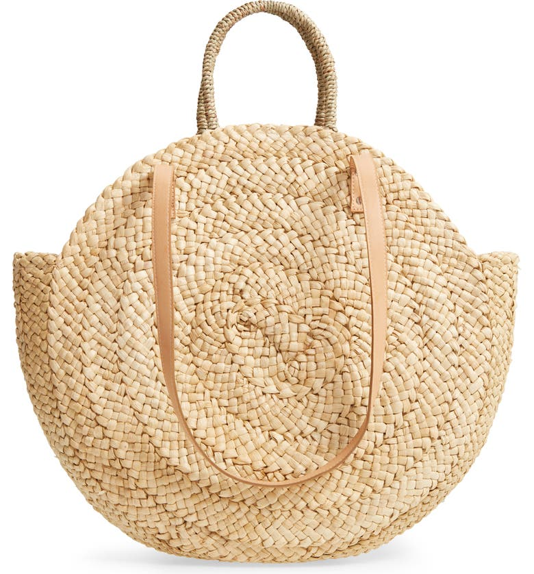 STREET LEVEL Circle Straw Tote, Main, color, 250