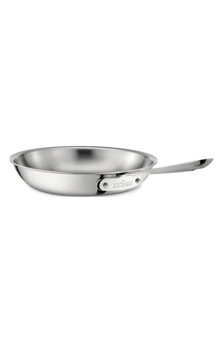 ALL-CLAD D3 10-Inch Stainless Steel Fry Pan, Main, color, SILVER