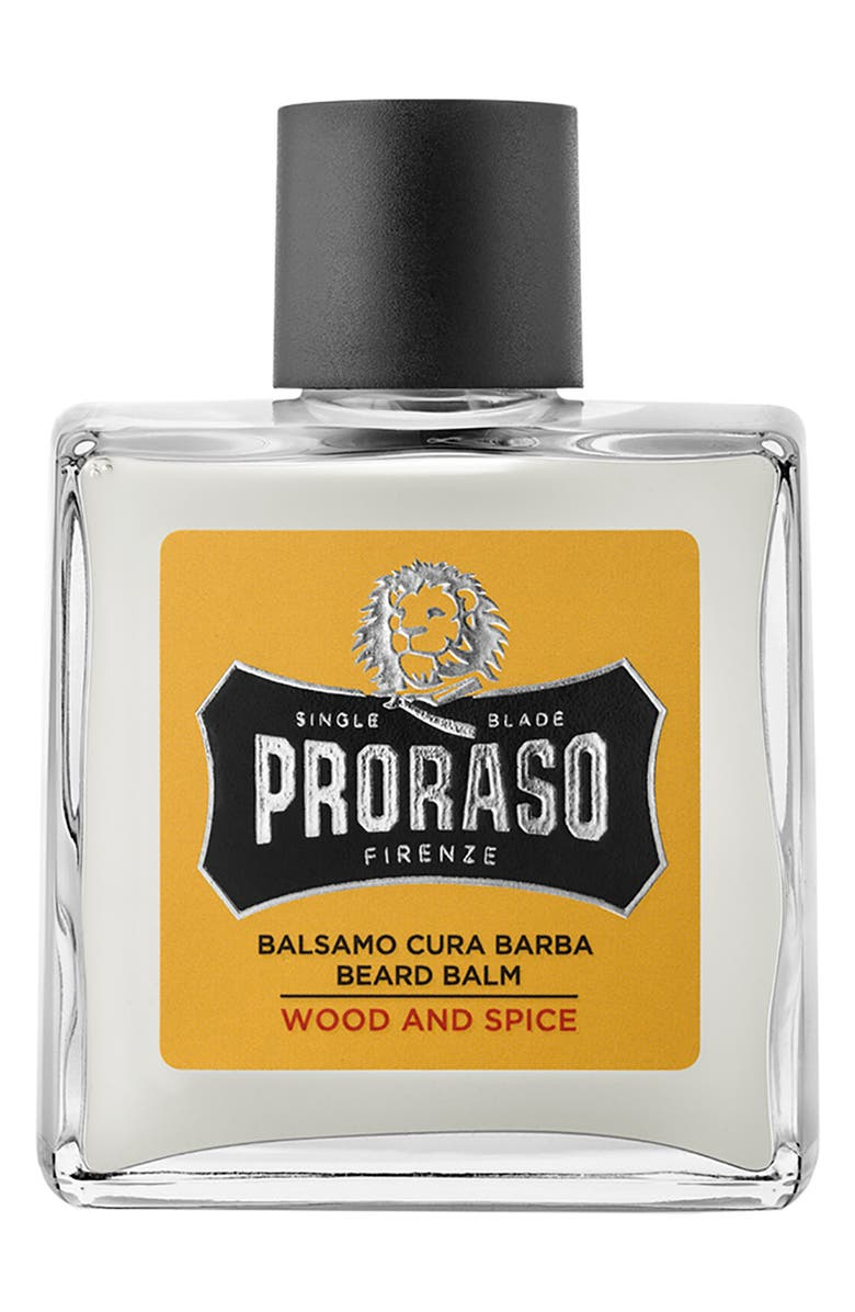 PRORASO Men's Grooming Wood and Spice Beard Balm, Main, color, NO COLOR