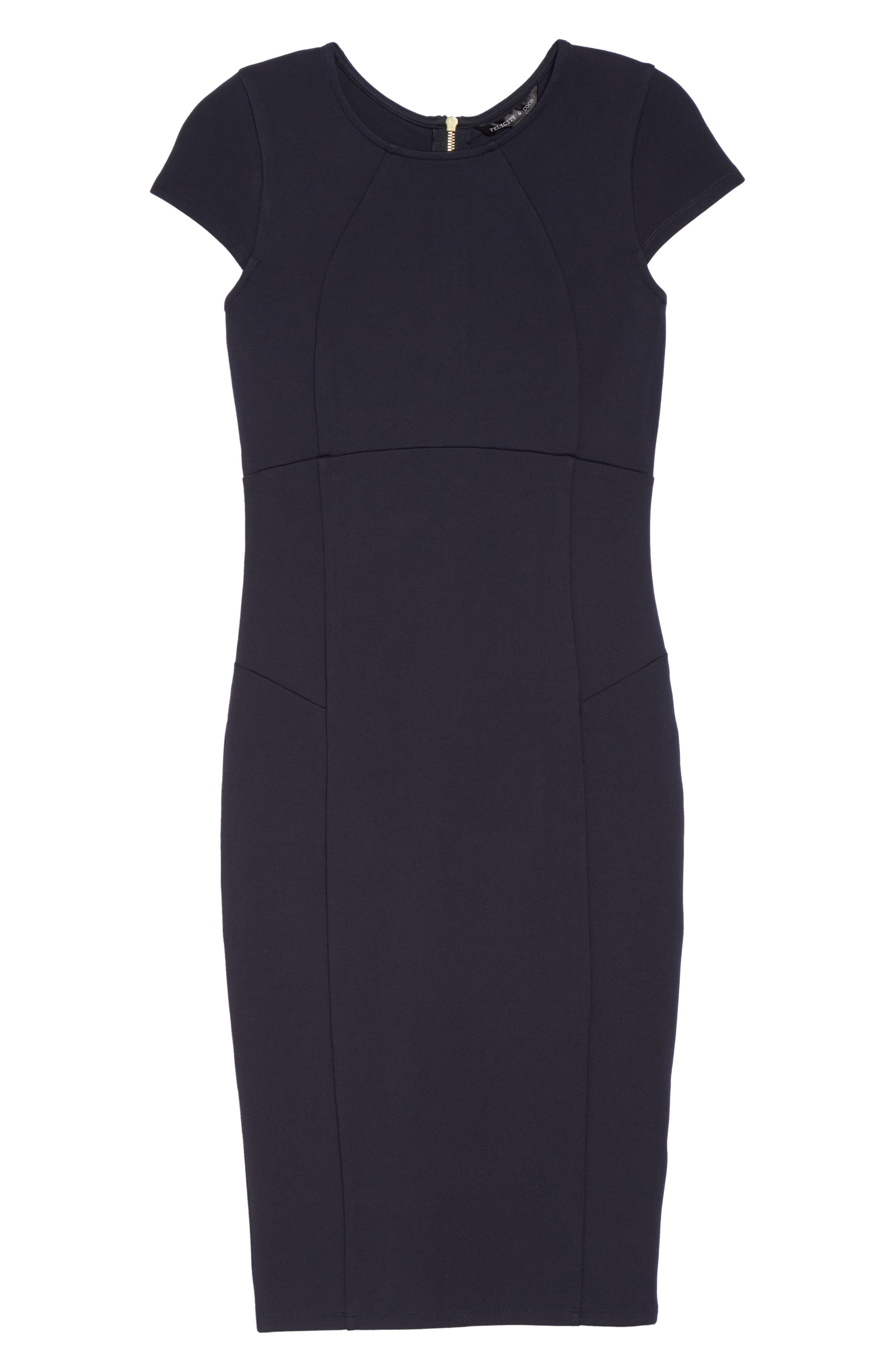 ,                             Ward Seamed Pencil Dress,                             Alternate thumbnail 15, color,                             400
