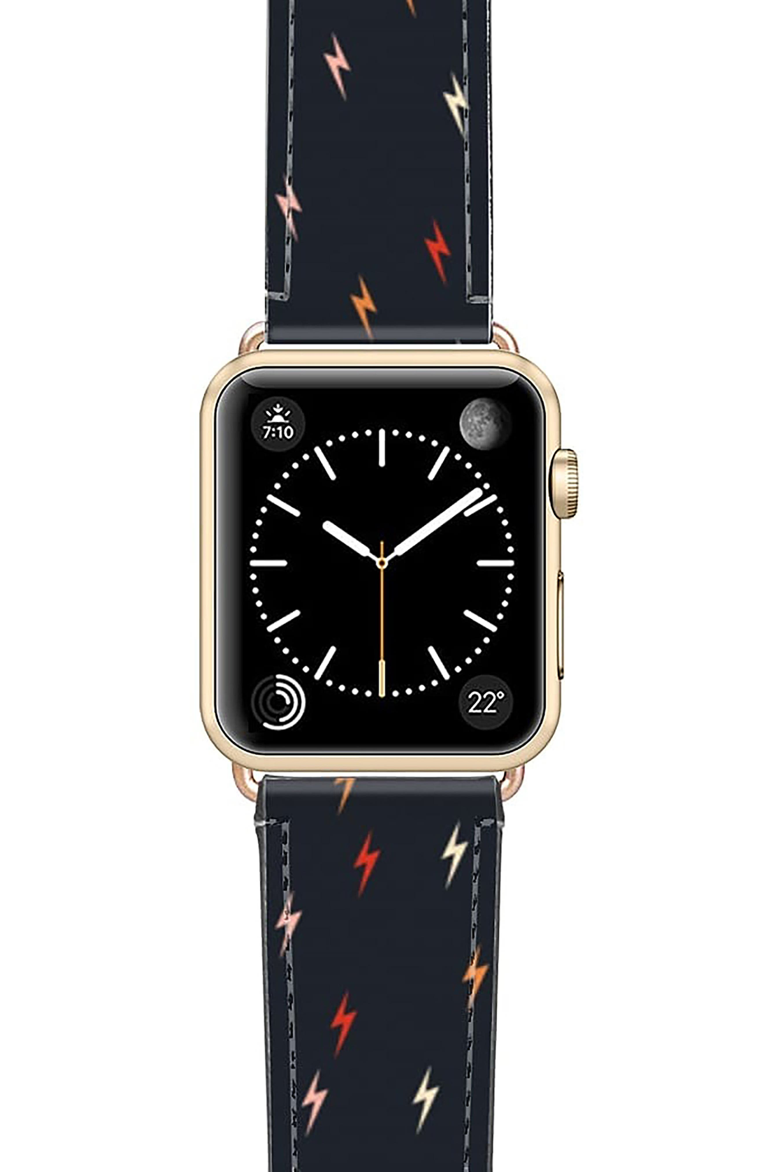 Pass The Bolt Saffiano Faux Leather Apple Watch Strap
