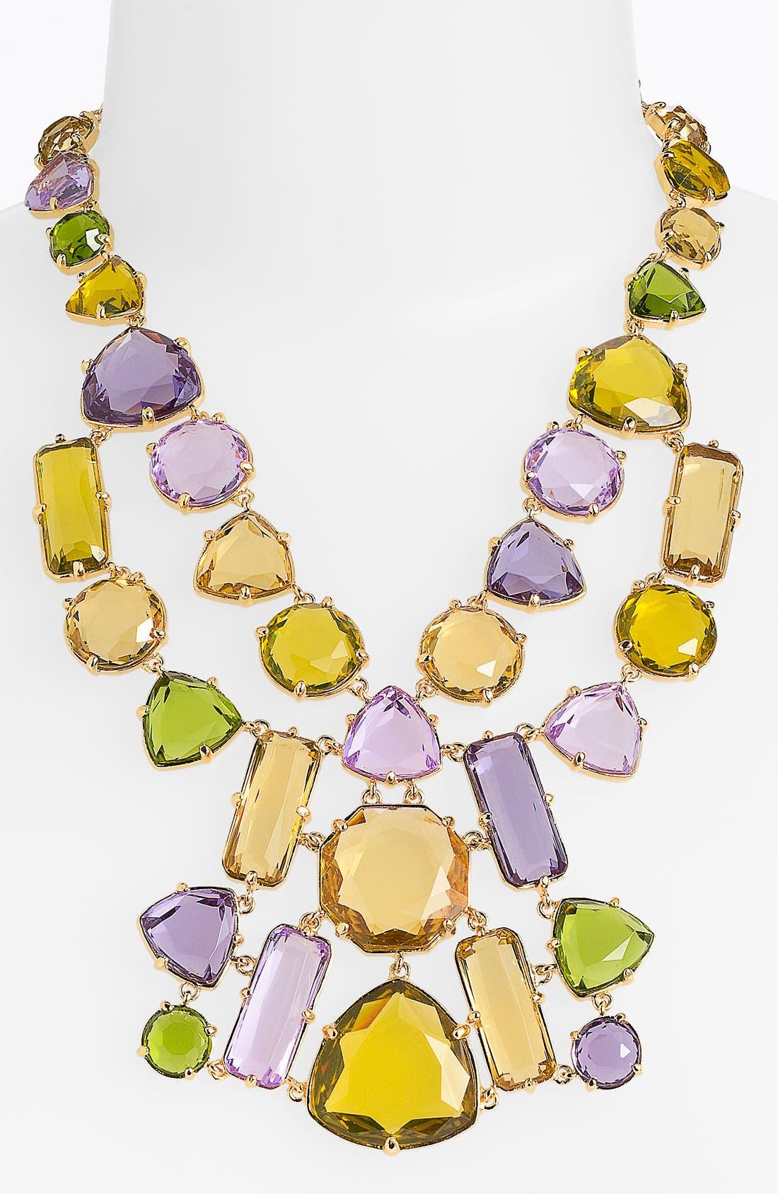 'desert stone' statement bib necklace, Main, color, 500