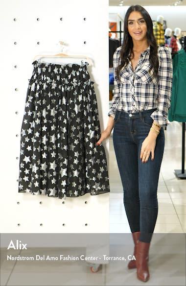 x Atlantic-Pacific Star Chiffon Midi Skirt, sales video thumbnail
