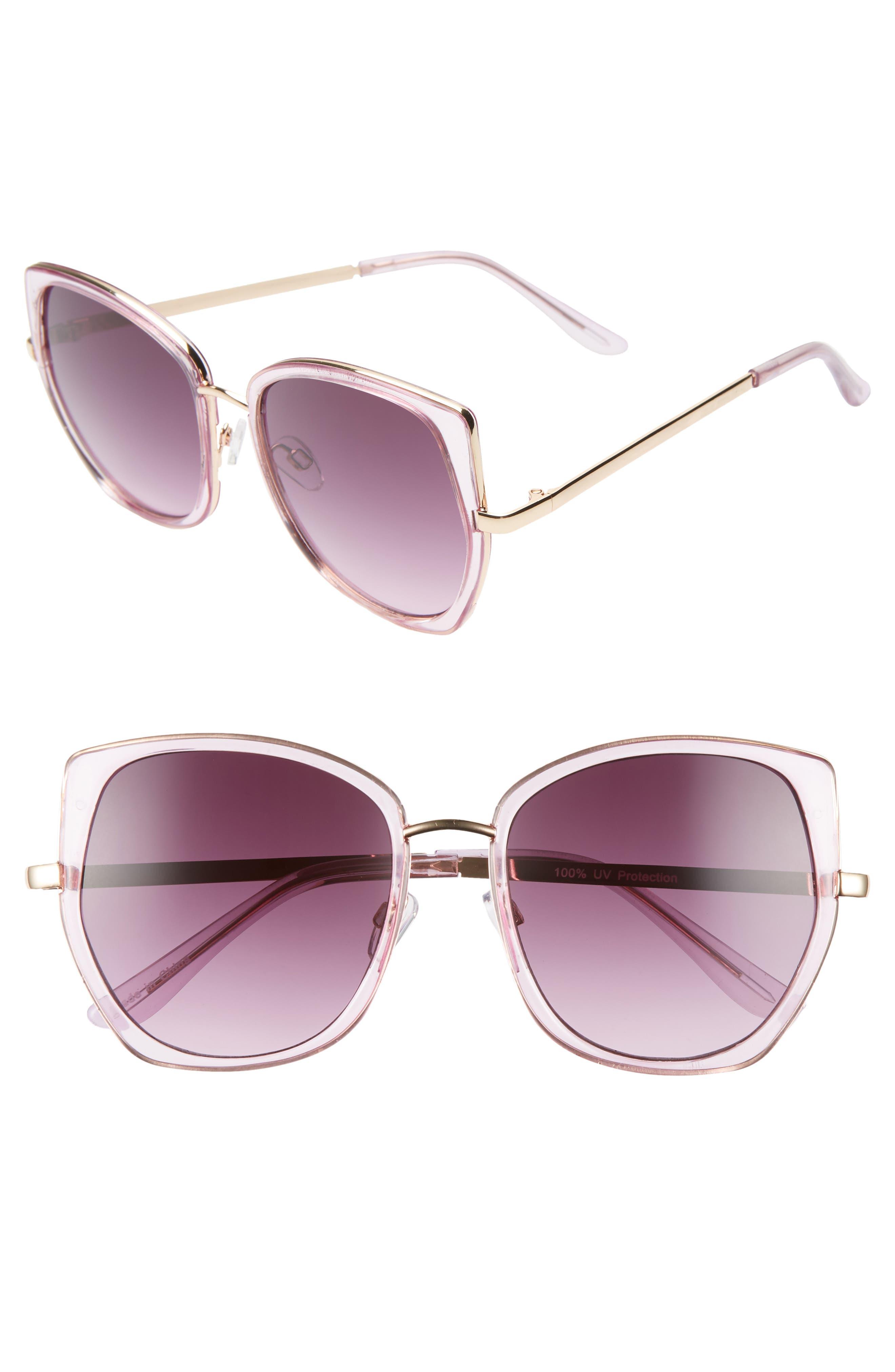 ,                             Leith 60mm Square Sunglasses,                             Main thumbnail 4, color,                             500