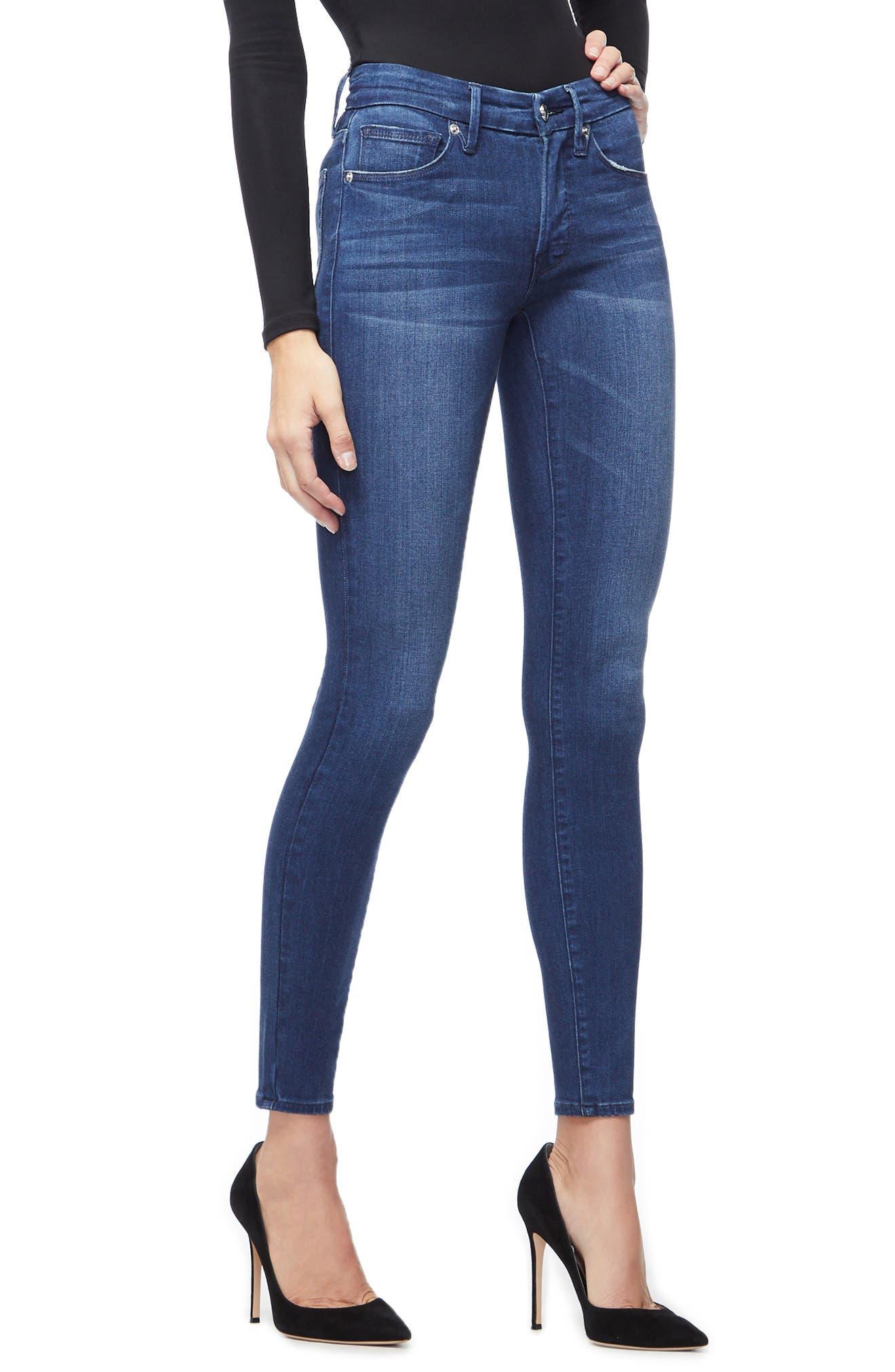 ,                             Good Legs High Waist Skinny Jeans,                             Alternate thumbnail 6, color,                             BLUE211