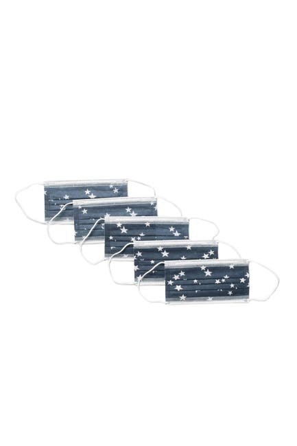 Image of Global Supply Industries Disposable Star Face Mask - Pack of 25