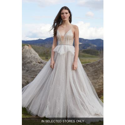 Willowby Larimar Beaded Tulle A-Line Wedding Dress, Size IN STORE ONLY - Ivory
