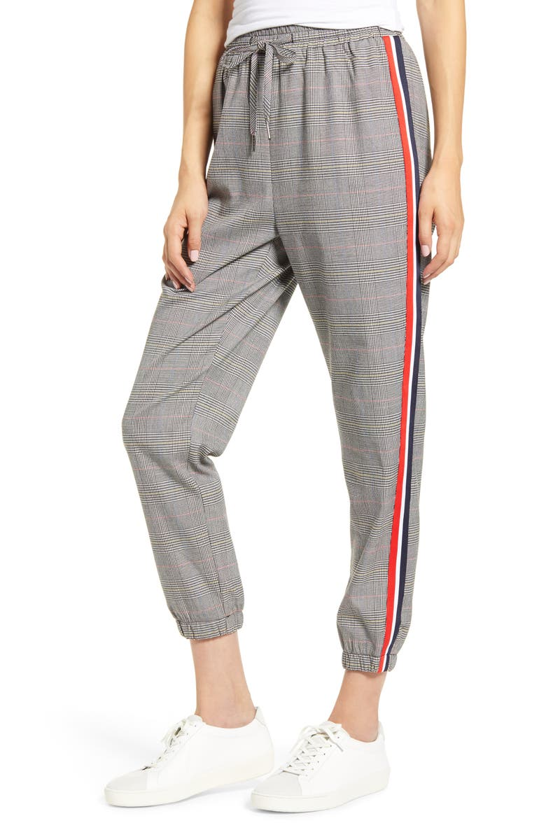 CUPCAKES AND CASHMERE Stella Check Jogger Pants, Main, color, 001