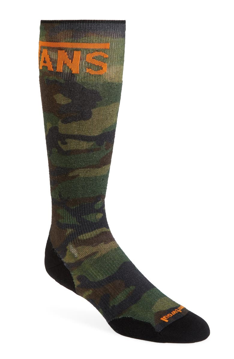 SMARTWOOL x Vans PhD<sup>®</sup> Light Elite Woodland Camo Ski Socks, Main, color, 310
