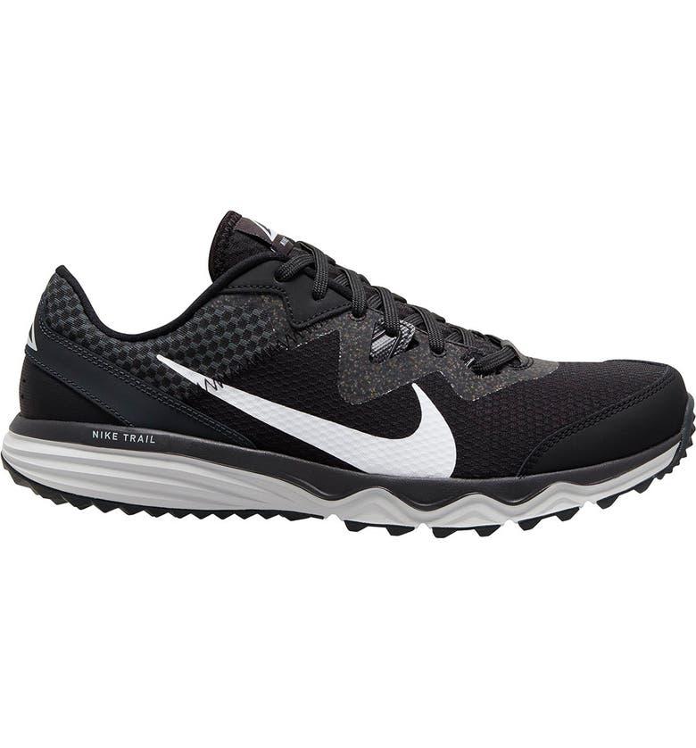 NIKE Juniper Trail Running Shoe, Main, color, 001 BLACK/WHITE