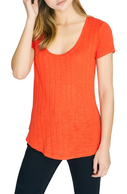 Sanctuary Tops RUBY SCOOP COTTON BLEND TEE