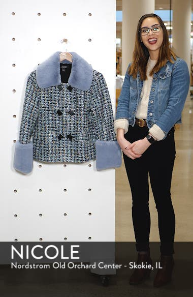 x Atlantic-Pacific Tweed Jacket with Removable Faux Fur Trim, sales video thumbnail