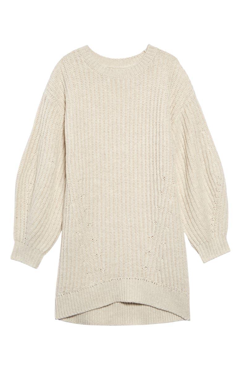 TREASURE & BOND Cozy Sweater Dress, Main, color, BEIGE OATMEAL HEATHER