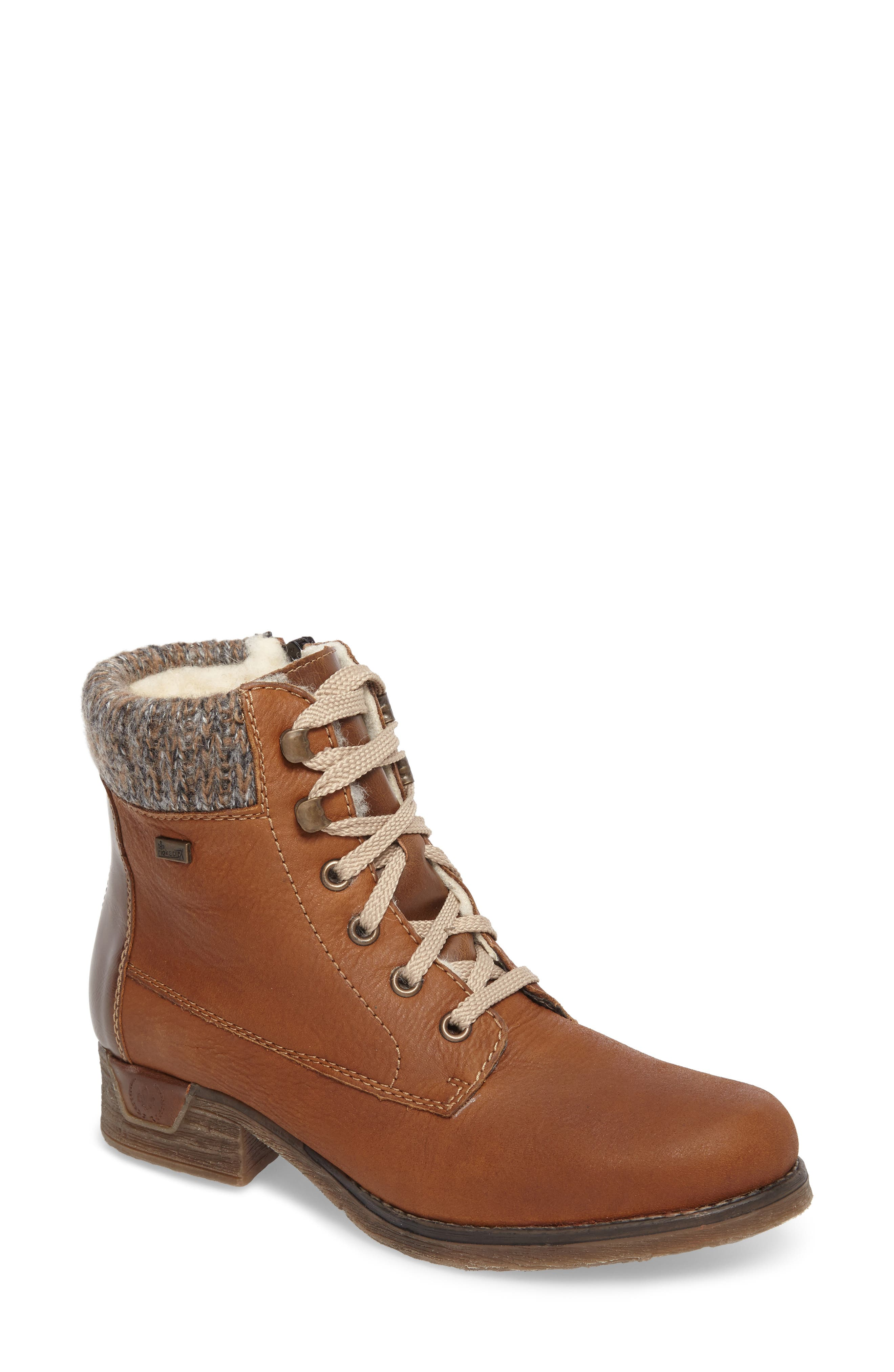 Rieker Antistress Fee 02 Lace-Up Boot, Brown