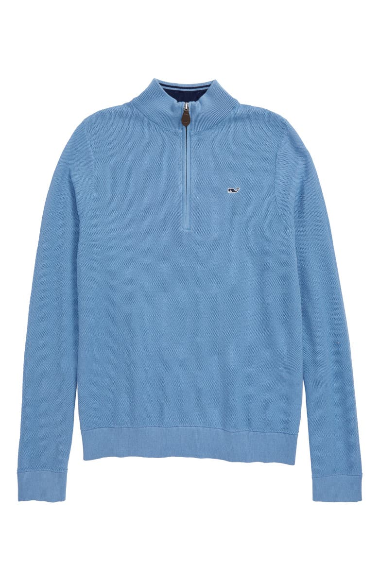 VINEYARD VINES Classic Mock Neck Half Zip Sweater, Main, color, 400