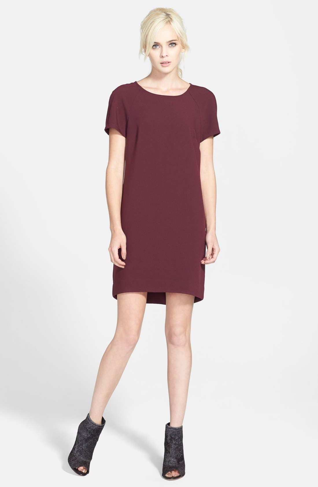 ,                             Crepe Shift Dress,                             Main thumbnail 22, color,                             930