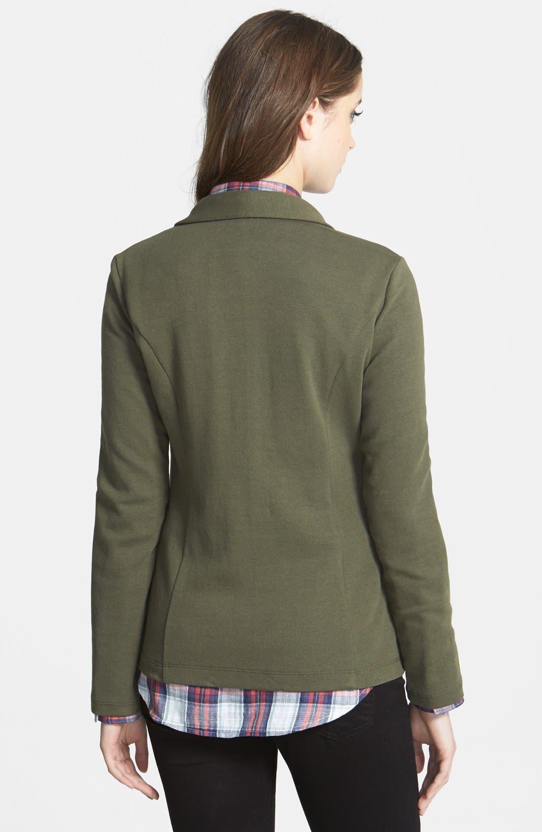 ,                             Roll Sleeve Knit Blazer,                             Alternate thumbnail 23, color,                             315