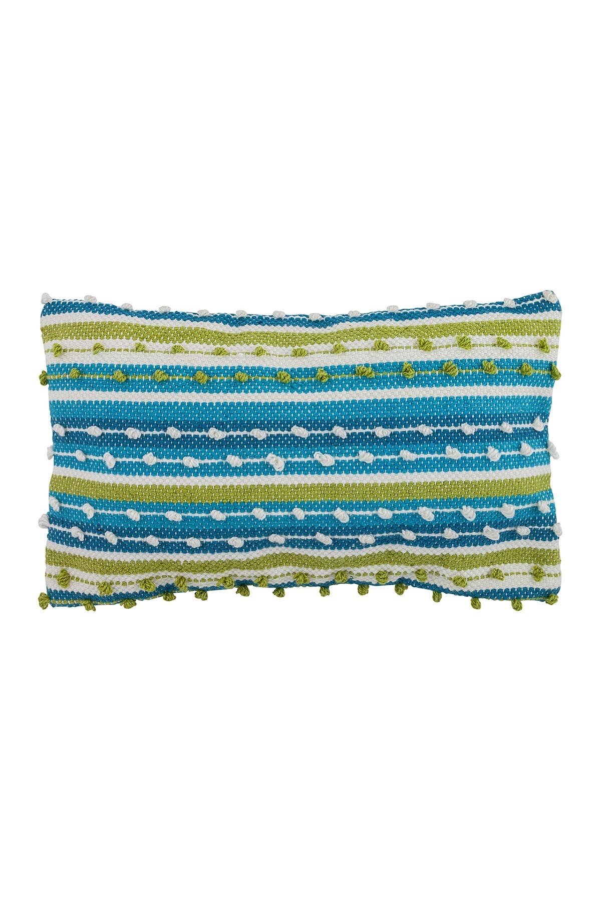 """Image of DIVINE HOME Spring Outdoor Pillow - 12"""" x 20"""" - Blue/Green"""