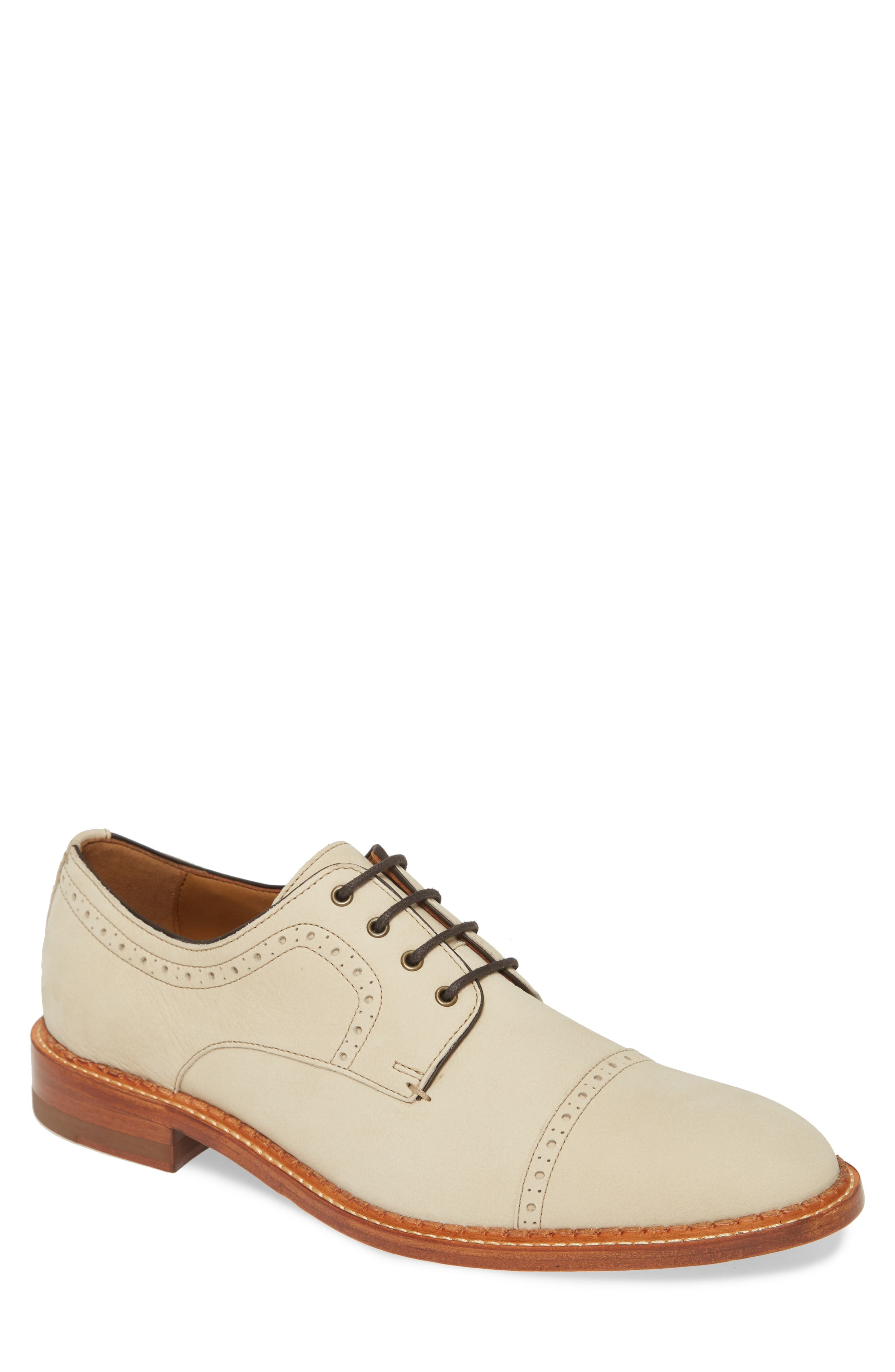 1920s Style Mens Shoes | Peaky Blinders Boots Mens J  m 1850 Chambliss Cap Toe Derby Size 11.5 M - White $198.00 AT vintagedancer.com