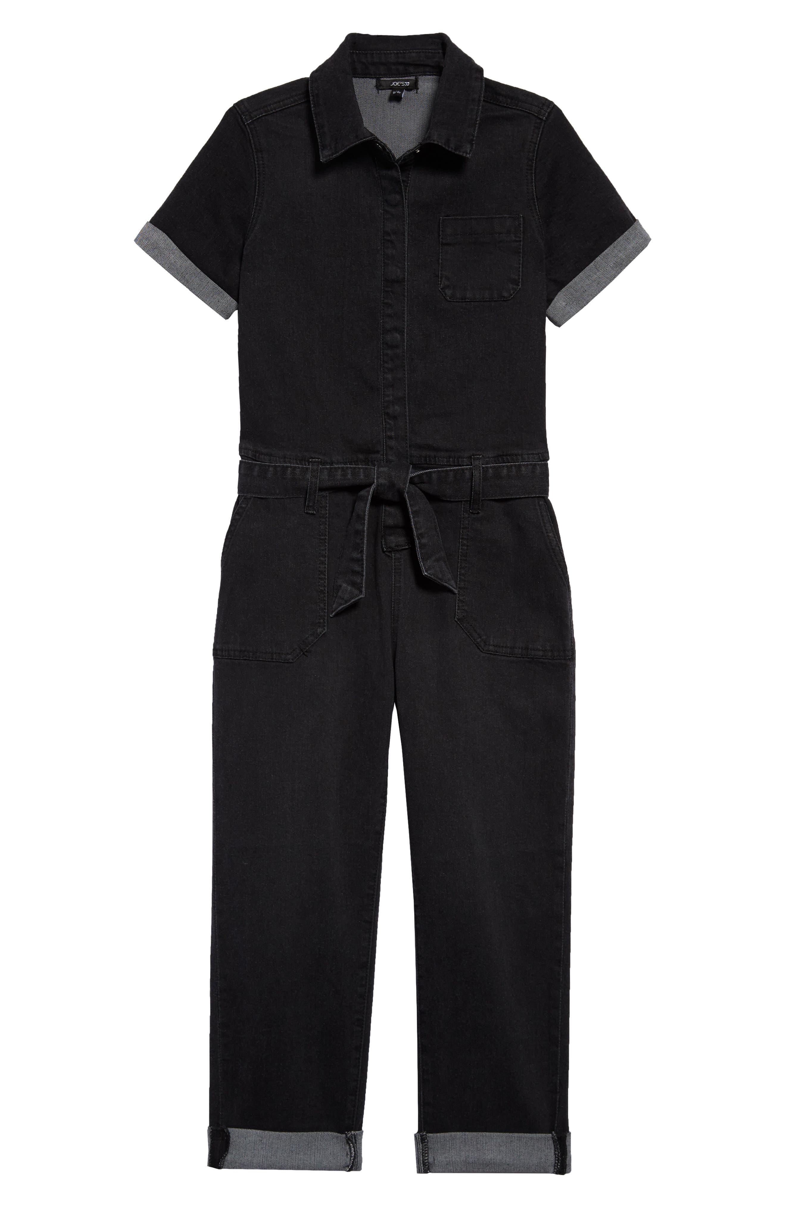 1940s Children's Clothing: Girls, Boys, Baby, Toddler Girls Joes The Mavis Denim Jumpsuit $59.00 AT vintagedancer.com