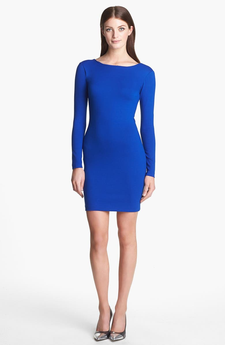 AMANDA UPRICHARD Cutout Back Ponte Sheath Dress, Main, color, 400