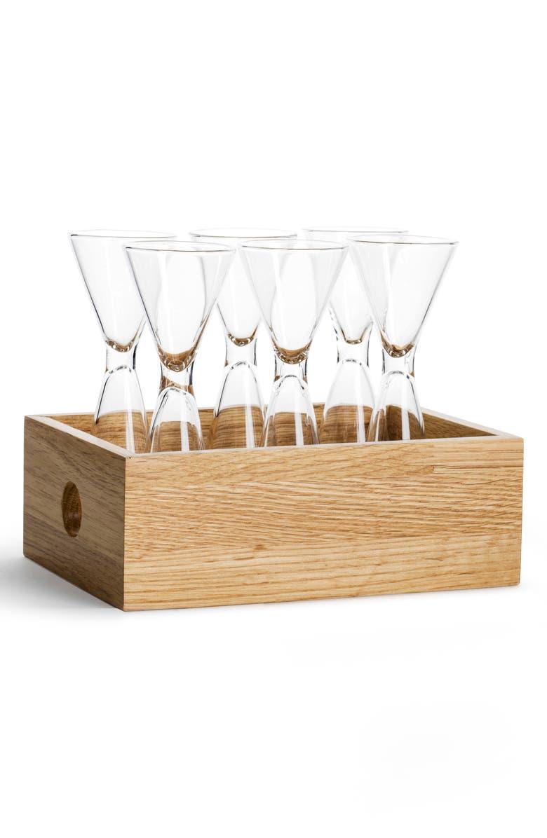 SAGAFORM Set of 6 Shot Glasses, Main, color, CLEAR