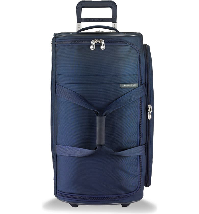 BRIGGS & RILEY 27-Inch Medium Baseline Rolling Duffle Bag, Main, color, NAVY