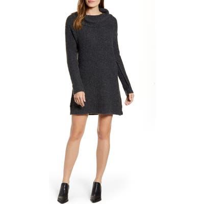 Calson Cozy Links Long Sleeve Sweater Dress, Grey