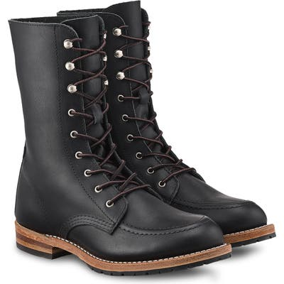 Red Wing Gracie 8-Inch Moc Boot, Black