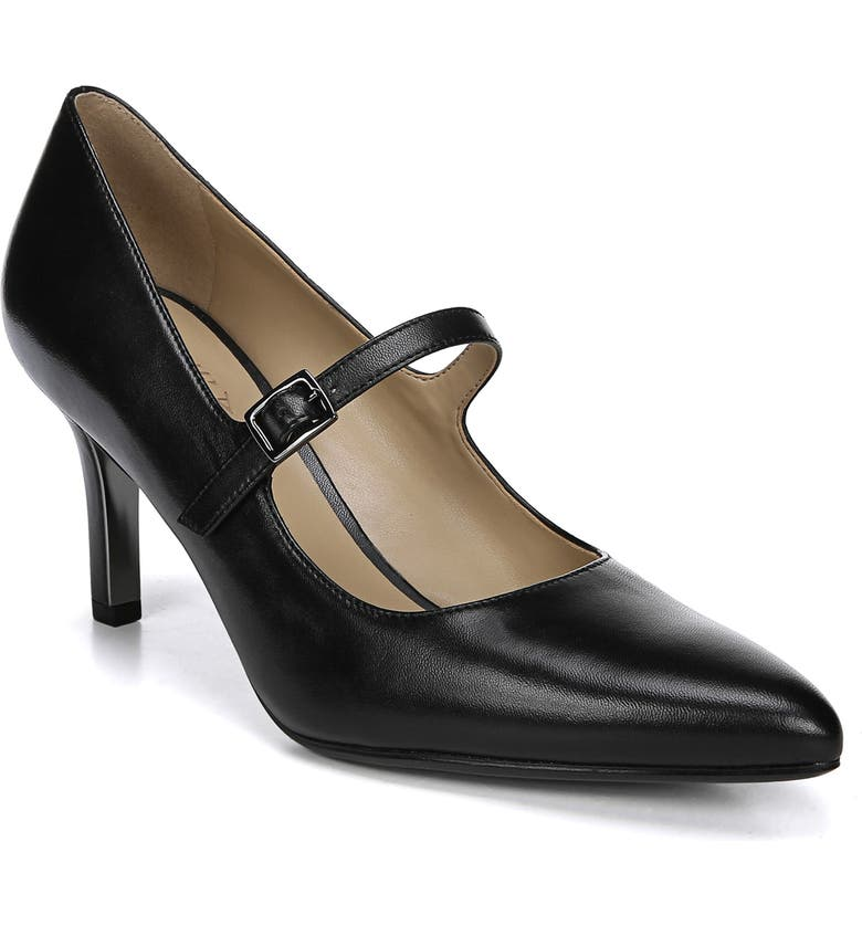 NATURALIZER Naiya Mary Jane Pump, Main, color, BLACK LEATHER