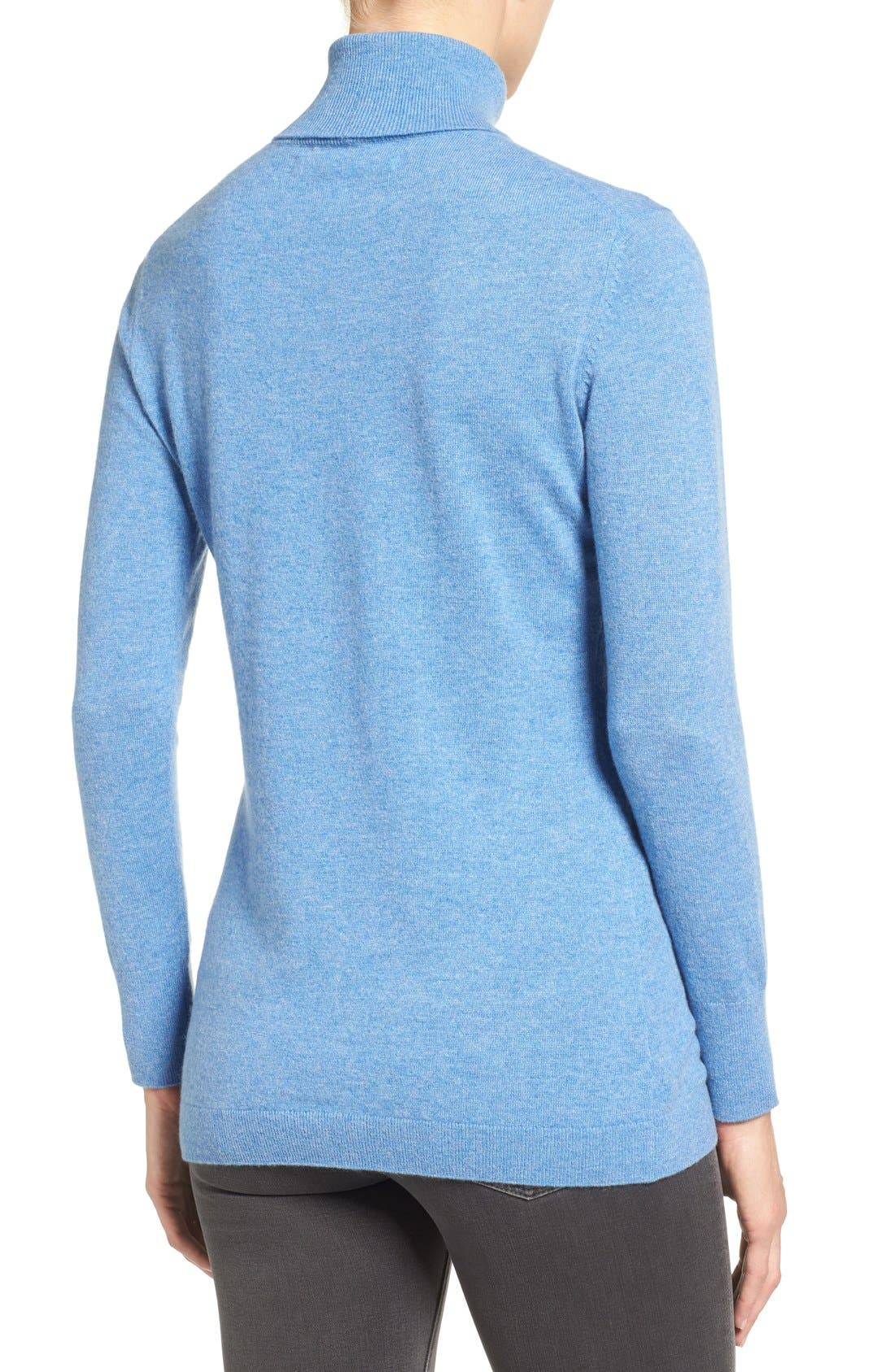 ,                             Long Cashmere Turtleneck Sweater,                             Alternate thumbnail 39, color,                             420